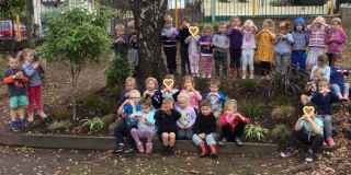 Abbotsford Kindy children signing a heart